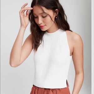 Aritzia Wilfred Crevier white knit tank top